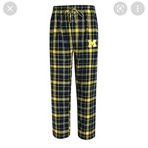 University of Michigan Plaid Flannel Pajama Pants